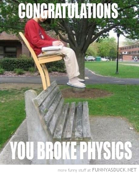 man sitting chair bench congratulations broke physics funny pics pictures pic picture image photo images photos lol