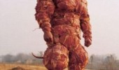man wrapped bacon meat suit vegetarian final boss funny pics pictures pic picture image photo images photos lol