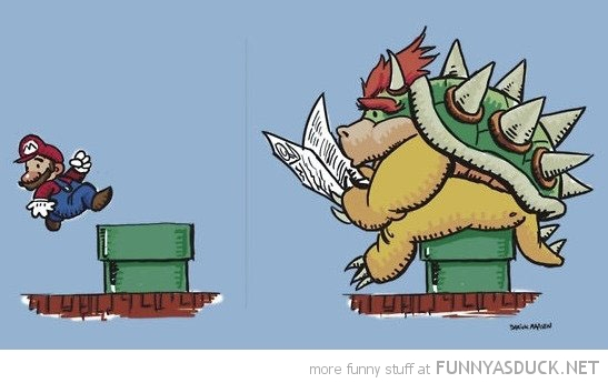mario bowser comic gaming taking shit warp pipe nintendo funny pics pictures pic picture image photo images photos lol