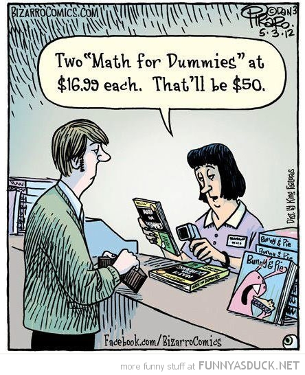 man buying math for dummies books comic funny pics pictures pic picture image photo images photos lol