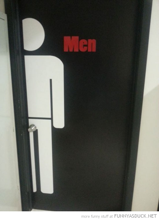 men bathroom toilet door knob funny pics pictures pic picture image photo images photos lol