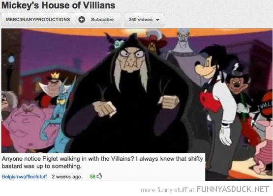 mickeys house villains you tube comment piglet funny pics pictures pic picture image photo images photos lol
