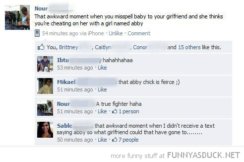 misspell girlfriends name facebook status comment funny pics pictures pic picture image photo images photos lol