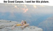mom worried trip grand canyon hanging off cliff funny pics pictures pic picture image photo images photos lol