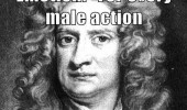 newtons third law male cation female overreaction funny pics pictures pic picture image photo images photos lol