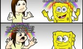 nobody cares spongebob comic shot head nickelodeon funny pics pictures pic picture image photo images photos lol