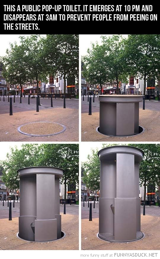 pop-up toilet night stop peeing streets funny pics pictures pic picture image photo images photos lol