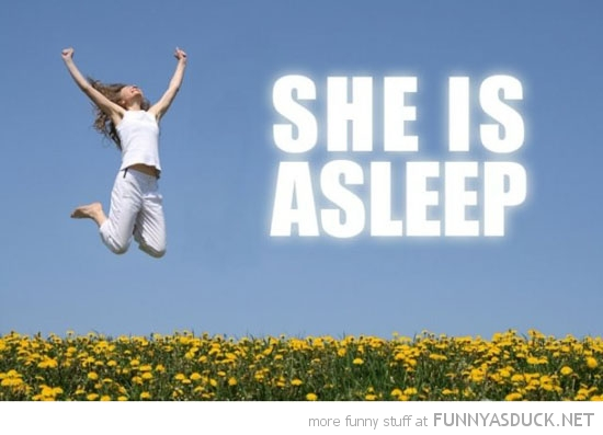 parent jumping she is asleep happy kid funny pics pictures pic picture image photo images photos lol