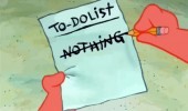 patrick spongebob squarepants nickelodeon to do list nothing funny pics pictures pic picture image photo images photos lol