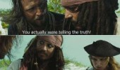 pirates carribian jack sparrow surprised telling truth movie film funny pics pictures pic picture image photo images photos lol