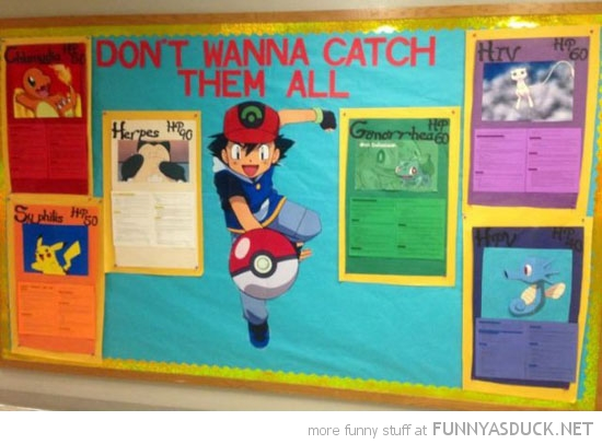 pokemon don't wanna catch them all std sexually transmitted disease sign board funny pics pictures pic picture image photo images photos lol