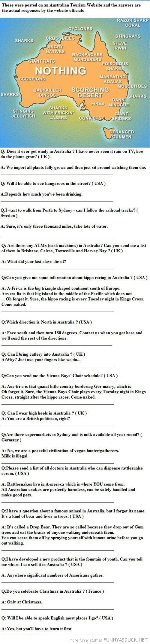 questions answers Australian tourism board funny pics pictures pic picture image photo images photos lol