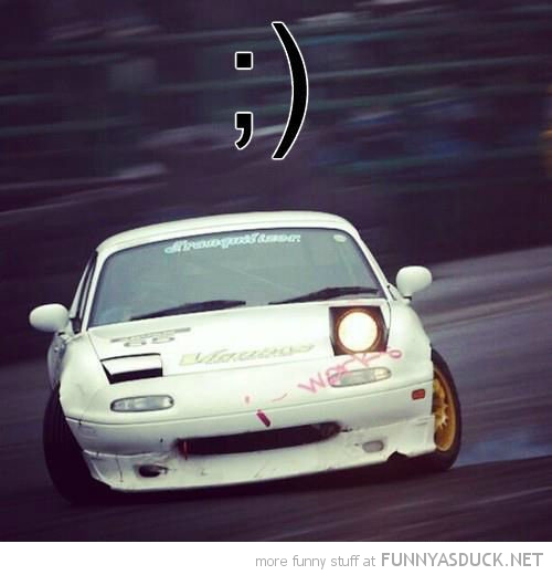 race car bend wink emoticon funny pics pictures pic picture image photo images photos lol