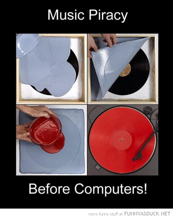 record pressing music piracy before computers funny pics pictures pic picture image photo images photos lol