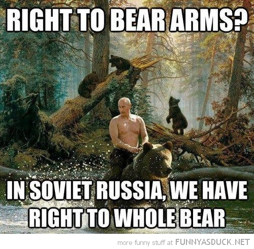 right to bear arms vladimir putin riding animal funny pics pictures pic picture image photo images photos lol