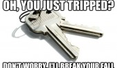 you tripped let me break your fall scumbag keys meme funny pics pictures pic picture image photo images photos lol