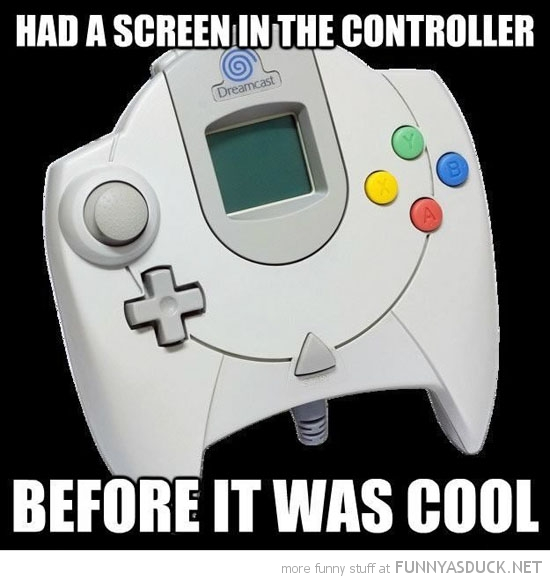 sega dreamcast had screen controller before it was cool retro funny pics pictures pic picture image photo images photos lol