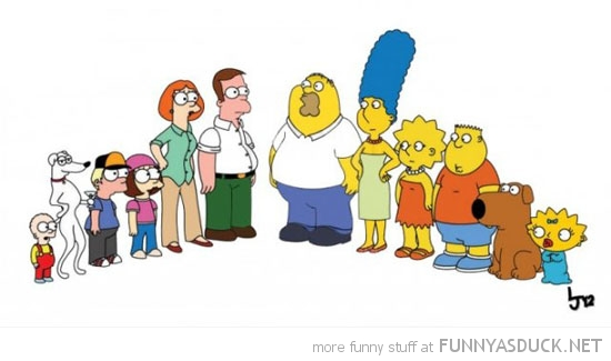 simpsons family guy switched round tv funny pics pictures pic picture image photo images photos lol