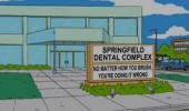 simpsons springfield dental complex brushing doing it wrong tv funny pics pictures pic picture image photo images photos lol