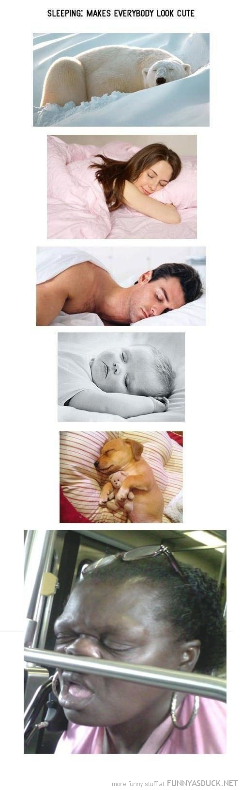 sleeping makes everybody look cute ugly woman funny pics pictures pic picture image photo images photos lol