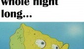 spongebob waking up after partying water funny pics pictures pic picture image photo images photos lol