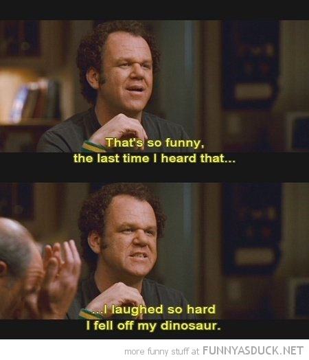 stepbrothers movie scene laughed so hard fell of dinosaur funny pics pictures pic picture image photo images photos lol