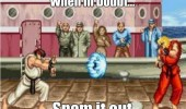 street fighter ryu hadoken if doubt spam out gaming retro funny pics pictures pic picture image photo images photos lol