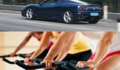 takes car instead bike gym funny pics pictures pic picture image photo images photos lol