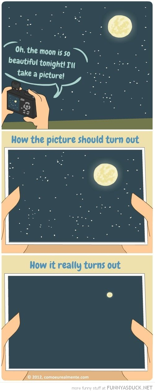 taking picture of the moon comic funny pics pictures pic picture image photo images photos lol
