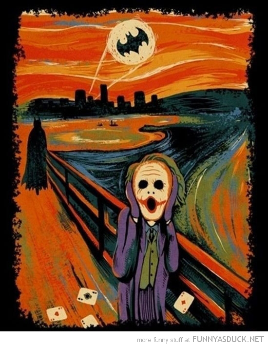 the scream painting joker batman film movie funny pics pictures pic picture image photo images photos lol