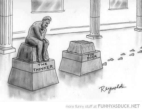 the thinker doer statue comic funny pics pictures pic picture image photo images photos lol