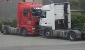 trucks fighting say to my face parked funny pics pictures pic picture image photo images photos lol