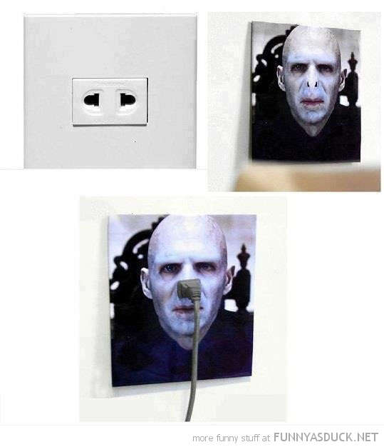 voldemort harry potter plug power socket outlet nose funny pics pictures pic picture image photo images photos lol