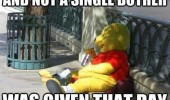 winnie pooh costume man street not single bother given funny pics pictures pic picture image photo images photos lol