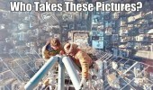 men high up tower building who takes these funny pics pictures pic picture image photo images photos lol