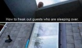 baby doll roof window freak out guests funny pics pictures pic picture image photo images photos lol
