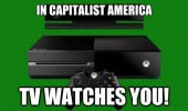 xbox one in capitalist america tv watches you funny pics pictures pic picture image photo images photos lol