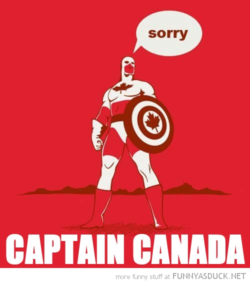 captain canada comic sorry america super hero funny pics pictures pic picture image photo images photos lol