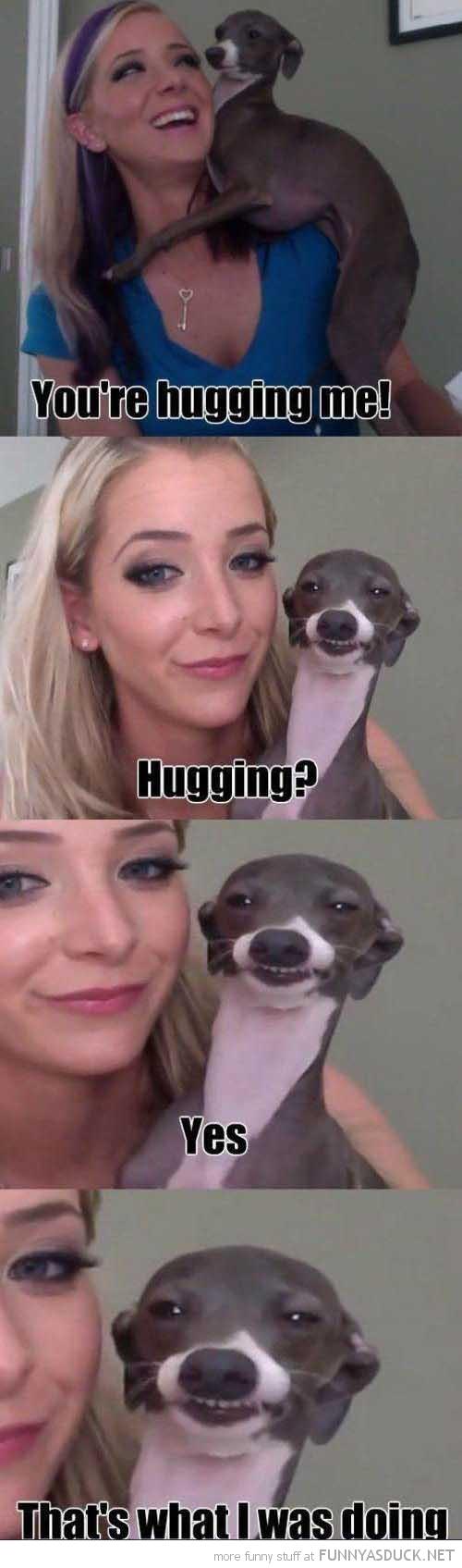 Hugging?