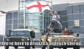 english army soldiers drink tea fuck shit up  funny pics pictures pic picture image photo images photos lol