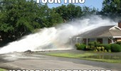 fuck this house in particular water burst pipe funny pics pictures pic picture image photo images photos lol