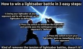 how to win light saber duel star wars funny pics pictures pic picture image photo images photos lol