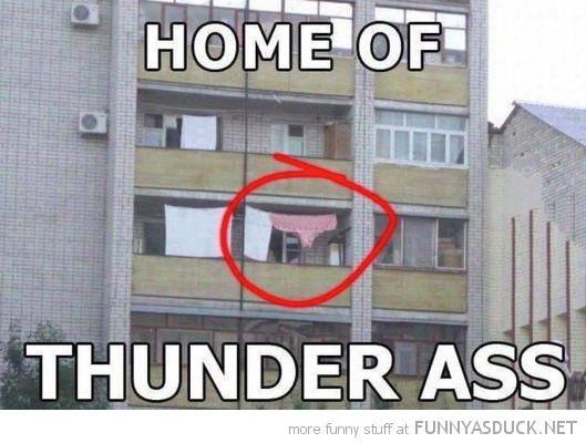 large pants clothes line home thunder ass funny pics pictures pic picture image photo images photos lol