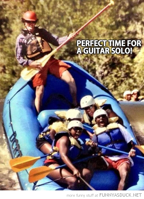 white water rafting perfect time guitar solo funny pics pictures pic picture image photo images photos lol