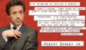 robert downey jr quote buying monkey funny pics pictures pic picture image photo images photos lol