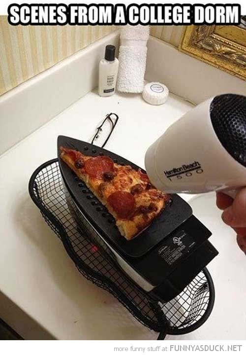 scenes from college dorm cooking pizza iron funny pics pictures pic picture image photo images photos lol