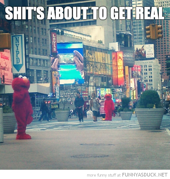shits about to get real elmos street costume funny pics pictures pic picture image photo images photos lol