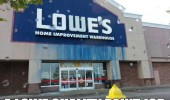 shop sign running lowe quality paint job funny pics pictures pic picture image photo images photos lol