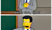 simpsons life is hard easy you suck funny pics pictures pic picture image photo images photos lol