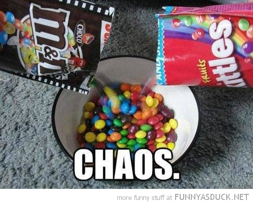 skittles m&ms same bowl choas funny pics pictures pic picture image photo images photos lol